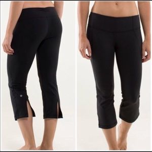 Lululemon gather and crow cropped pants